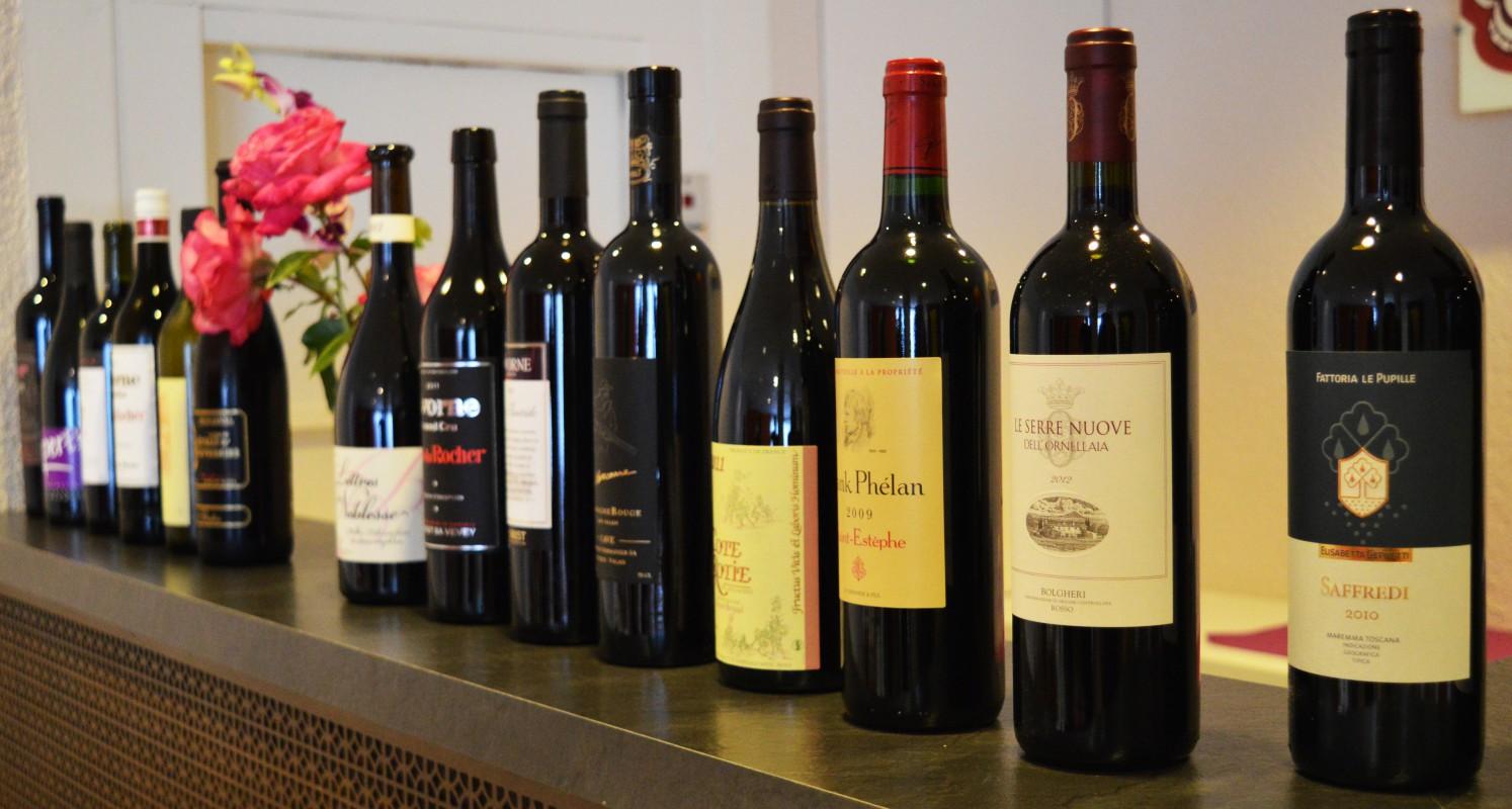 Vins italiens Mont dor Restaurant Lausanne